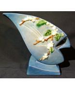 RARE ~ VINTAGE ORIGINAL ROSEVILLE SNOWBERRY IFH-7 BLUE ART POTTERY VASE. - $148.49