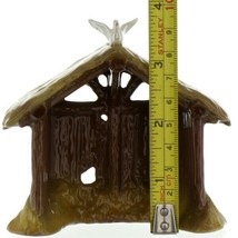 Hagen Renaker Specialty Nativity Manger with Dove Ceramic Figurine image 2