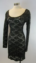 BETSEY JOHNSON COLLECTION Black Gold Floral Stretch Lace Dress Derriere ... - $97.02
