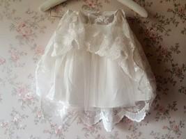 Mini Lace Baby Tutu Girl White Tutu Skirt image 4