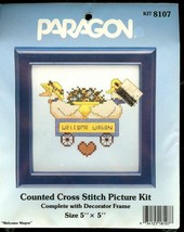 WELCOME WAGON Counted Cross Stitch Kit Vintage Paragon by Jeremiah Junct... - $8.47