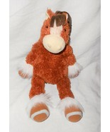 2011 Manhattan Toy Clydesdale Horse Pony Plush Stuffed Animal Brown Hors... - $26.71