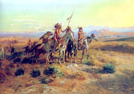 The Scouts, Charles M Russell, Native American, Indian Warriors, western... - $15.99