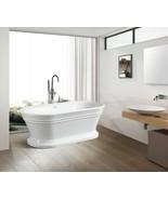 Vanity Art White Acrylic 59-Inch Freestanding Soaking Bathtub - VA6610 - $1,116.53