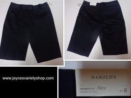 Harold's Alex Shorts Favorite Fit Below Waist NWT Navy Blue Women's SZ 8 - $13.99