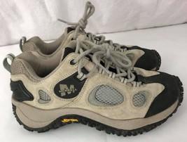Merrell women's vibran ventilator gray suede leather hiking trail shoes ... - $391,99 MXN
