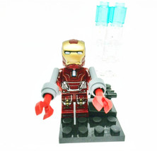 1 Pcs Super Heroes Marvel Iron Man With Double Weapon Fit Lego Block Min... - $8.99
