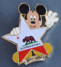 Disney Pin  100 Years of Dreams #100 California Republic Mickey Star 2001  - $10.00
