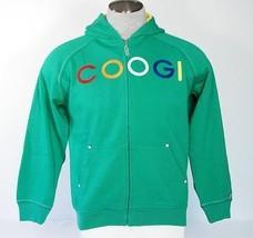 Coogi Signature Green Hooded Jacket Sweatshirt Hoodie Boys Medium 10 12 ... - $37.12