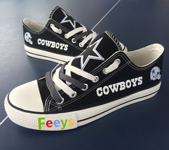 cowboys shoes womens converse style sneakers dallas fans fashion footballs shoes - $56.00