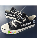cowboys shoes womens converse style sneakers dallas fans fashion footbal... - $55.99