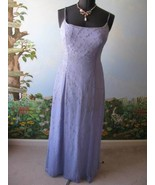 Tiffany Designs Lilac Silk Beaded Prom Evening Pageant Dress Size 16 - $88.11