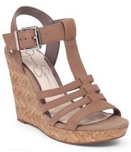 Jessica Simpson Jenaa Platform Wedge Sandals, Sizes 9-11 Totally Taupe JS-JENNA - $55.96