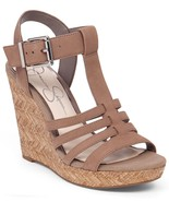 Jessica Simpson Jenaa Platform Wedge Sandals, Size 10 Totally Taupe JS-J... - $55.96