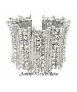 Anthony David Silver Austrian Crystal Cuff Bracelet - $24.99