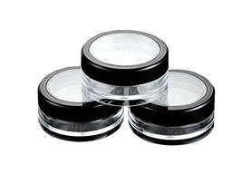 6 Pcs 10g 10ml Empty Plastic Clear Makeup Jar Cosmetic Cream Face Powder... - $10.68