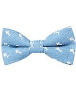 Levao Men's Classic Pattern 100% Cotton Pre-tied Bow Ties Light Blue Fis... - $17.87