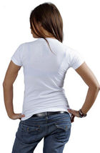 Cardboard Robot Women's White Crystal Ball Future End World T-Shirt Medium NWT image 3