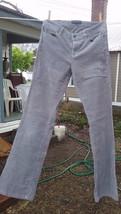 Women's Talbots Size 4 Curvy Gray Corduroy Pants  98 % Cotton 2 % Lycra - $19.50