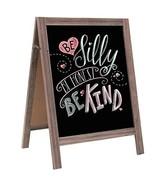 "IWELL A-Frame Chalkboard Sign  29.5"" x 21.7"" , Solid Wood Blackboard Stu... - $41.49"