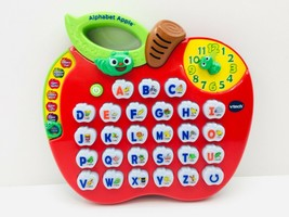 VTECH ALPHABET APPLE Learning Toy ABCs Phonics LIGHTS AND MUSIC! #1390 - $12.95