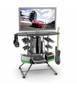 Black TV Stand Video Game Console Controller Storage Rack Organizer XBOX... - $113.84