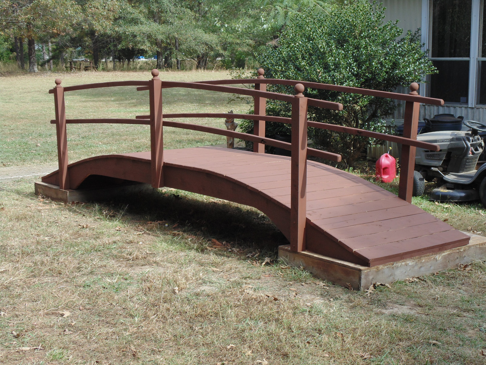 garden Bridge custom built 10 ft long and 3 ft wide
