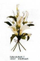 """Home Interiors Floral Calla Lilly Bush 24"""" Each, Last Ones! New Homco Hig 40507 - $16.82"""