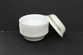 12 Vintage Corelle Green Crazy Daisy Spring Blossom Cereal/Soup Bowls 6 ... - $59.99