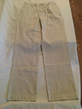 Size 14 Polo by Ralph Lauren pants khaki flat front uniform pants boys  - $10.99