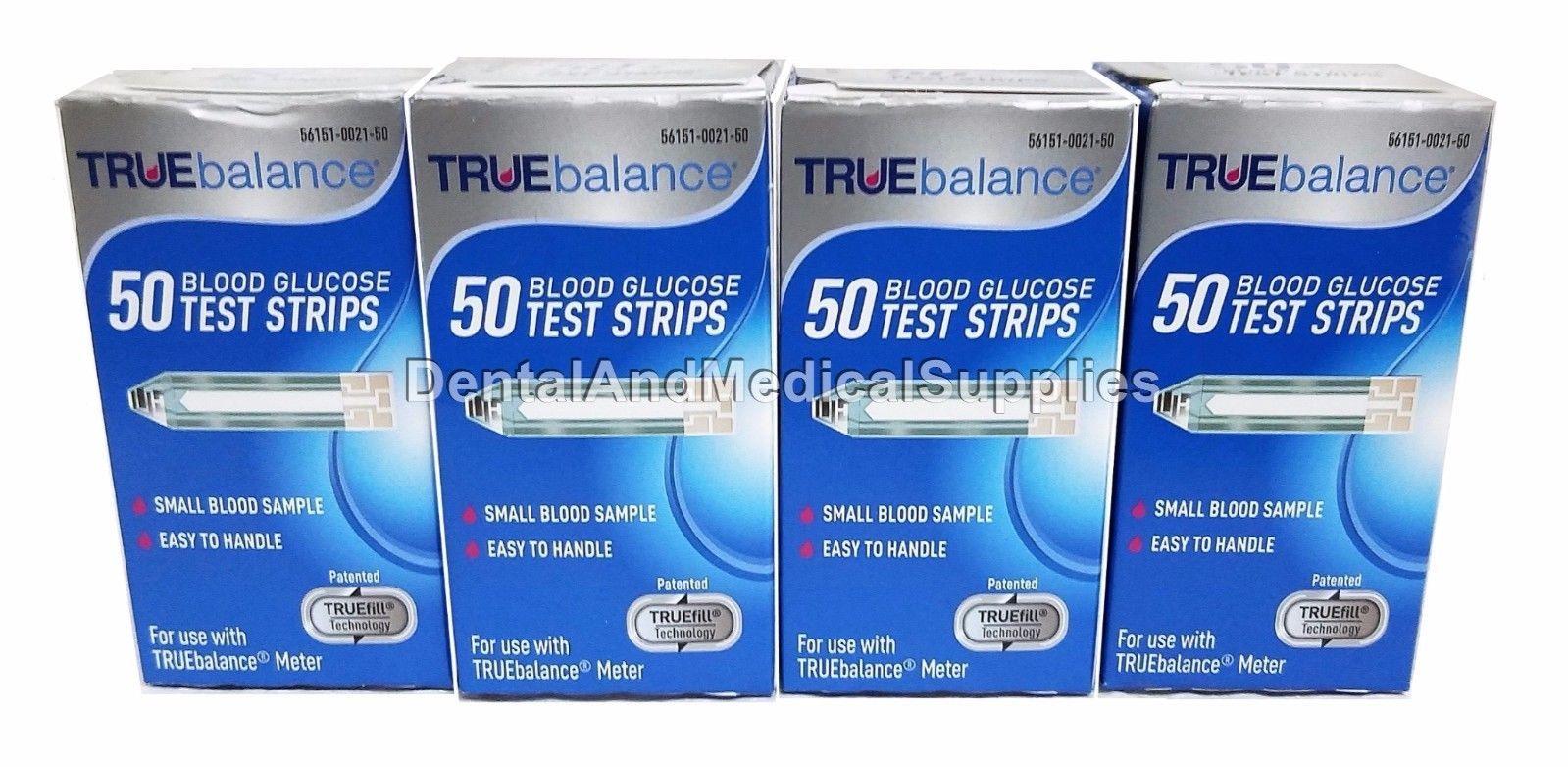 200 TRUE Balance Diabetic Test Strips 4 x and similar items
