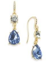 "Charter Club 1-1/16"" Gold Tone Crystal & Stone Drop Fish Hook Earrings $24 - $9.79"
