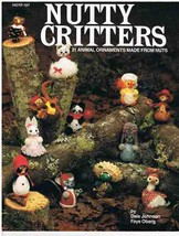 Nutty Critters 21 Animal Ornaments Made From Nuts Craft Book - $6.99