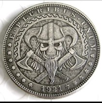 Hobo Nickel 1921 US Morgan Dollar Viking Crossed Axes Casted Coin - $11.99