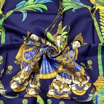 Hermes Scarf INDIA Silk Carre Foulard CATY LATHAM 90cm - $339.95