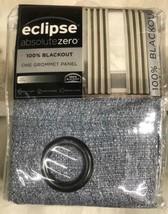 "Eclipse Cara Absolute Zero 100% Blackout Window Panel 50 x 108"" Grommet Denim - $24.70"