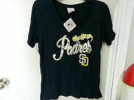 Genuine Merchandise Major League Women's San Diego Padres Yellow/Navy, L... - $11.25