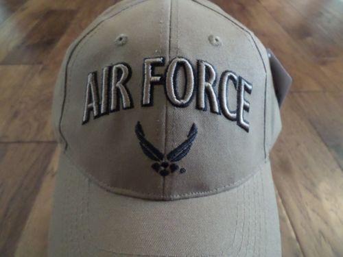 d5dcd1a00e987 NEW U.S AIR FORCE COYOTE BROWN HAT 3D EMBROIDERED OFFICIAL BALL CAP