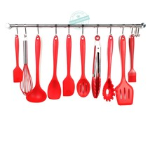 Silicone Cooking Set - Spoons, Turners, Spatula & 1 Ladle Etc - Heat Res... - $25.98