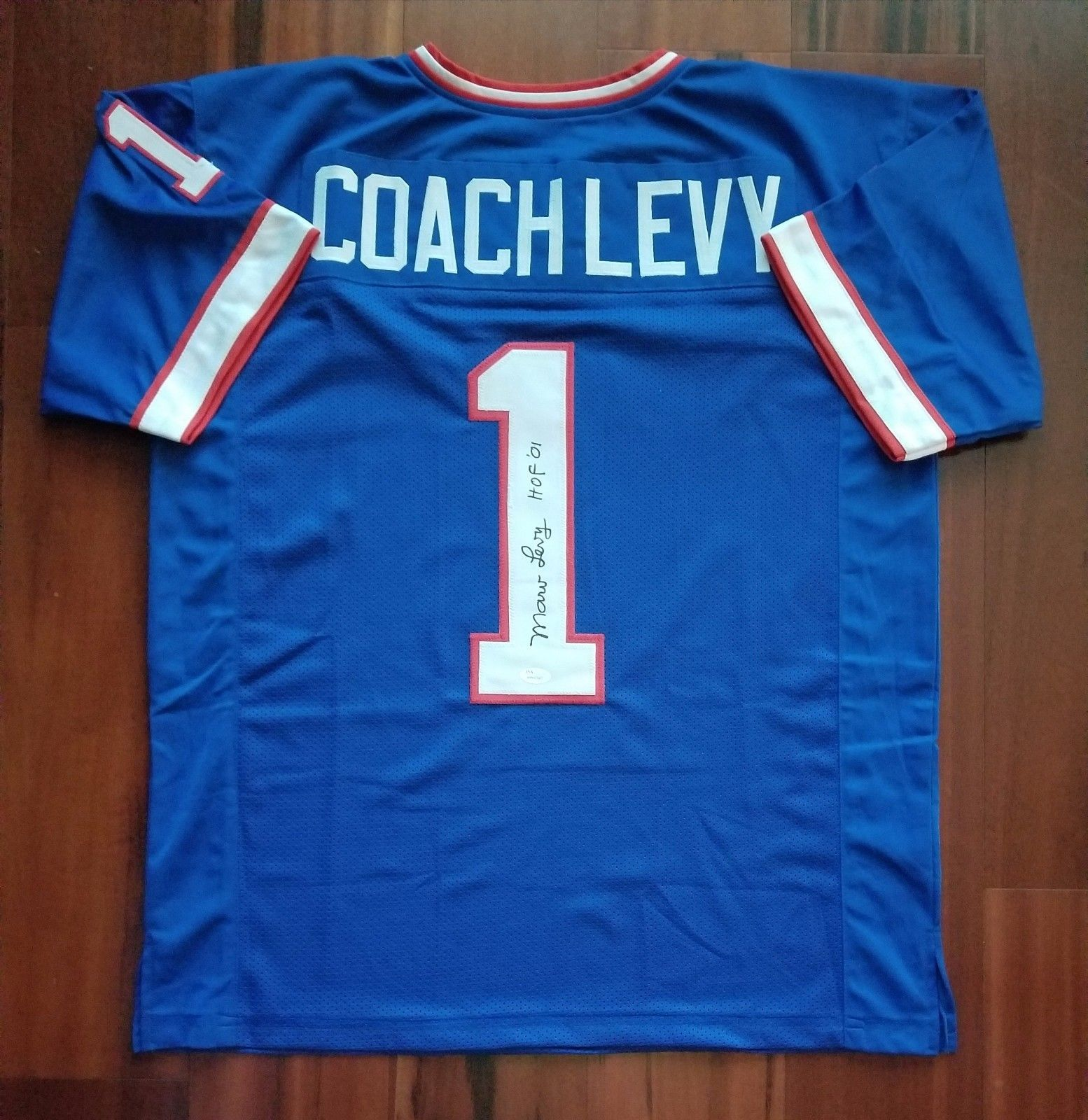 c0091350eec Marv Levy Autographed Signed Jersey New York and 50 similar items