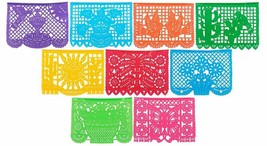 Paper Full of Wishes Festival Mexicano Large Plastic Papel Picado Banner... - $11.34