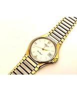 Vintage Rare Zenith Port Royal Two Tone Quartz Date Swiss Wristwatch - $135.12