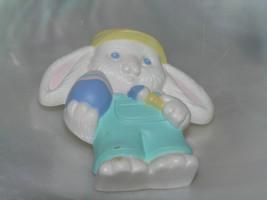 Estate Hallmark Cards White Plastic Floppy Eared Spring Easter Bunny Rabbit Pin - $5.89