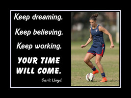 Carli Lloyd Inspirational Wall Art Gift Soccer Daughter Motivation Quote... - $19.99+