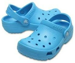 NWT Crocs Kids Coast Clog Electric Blue sz 8 Round Closed Toe Coastal Sandal - $23.00
