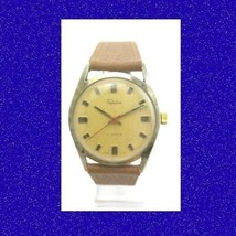 Stunning Vintage Steel 17Jewel Swiss Trafalgar Date Gents Wrist Watch 1976 - $47.44 CAD