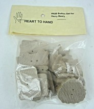 HARRY BEARY Wooden buttons For Seasonal Coats HEART TO HAND #92B - $12.19
