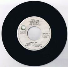 Elton John Nobody Wins 45 rpm Record B Fools In Fashion - £5.49 GBP