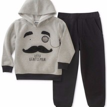 Kids Headquarters Toddler Boy's Hoodie Joggers Set Grey and Black - $16.89