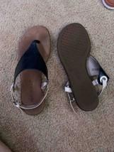 Nice used Aerosoles sandals womens size 7 tan black - $25.00